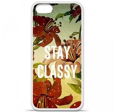 Coque en silicone Apple iPhone 5 / 5S - Stay classy