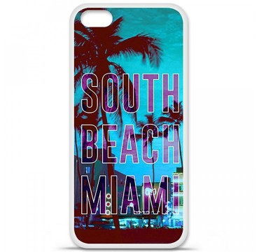 Coque en silicone Apple iPhone 5C - South beach miami