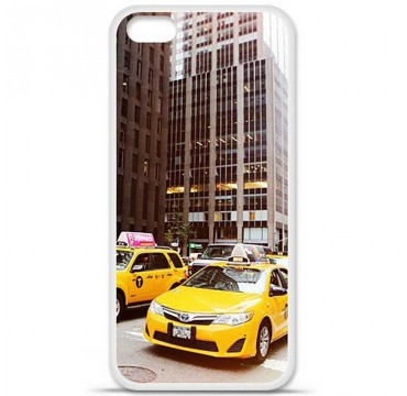 Coque en silicone Apple iPhone 5C - NY Taxi