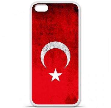 Coque en silicone Apple iPhone 5C - Drapeau Turquie