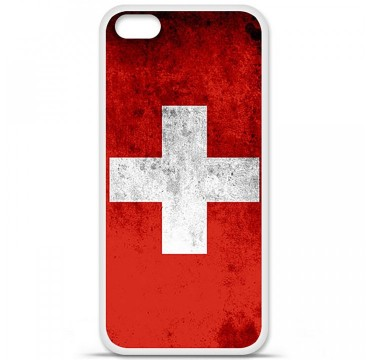 Coque en silicone Apple iPhone 5C - Drapeau Suisse
