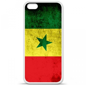 Coque en silicone Apple iPhone 5C - Drapeau Sénégal
