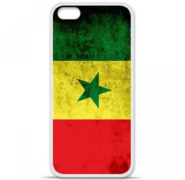 Coque en silicone pour Apple iPhone 5C - Drapeau Sénégal