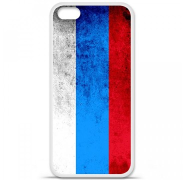 Coque en silicone Apple iPhone 5C - Drapeau Russie