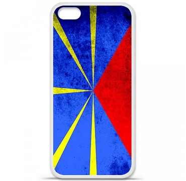 Coque en silicone Apple iPhone 5C - Drapeau La Réunion