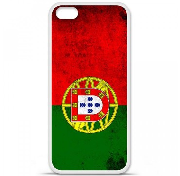 Coque en silicone Apple iPhone 5C - Drapeau Portugal