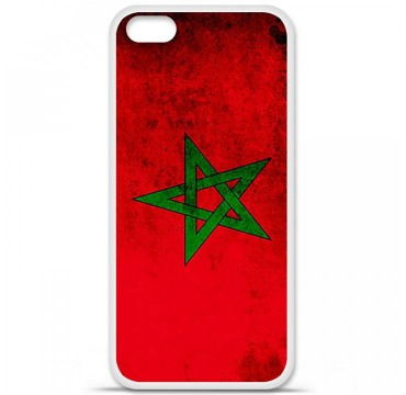 Coque en silicone Apple iPhone 5C - Drapeau Maroc