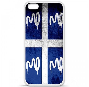 Coque en silicone Apple iPhone 5C - Drapeau Martinique