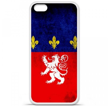Coque en silicone Apple iPhone 5C - Drapeau Lyon