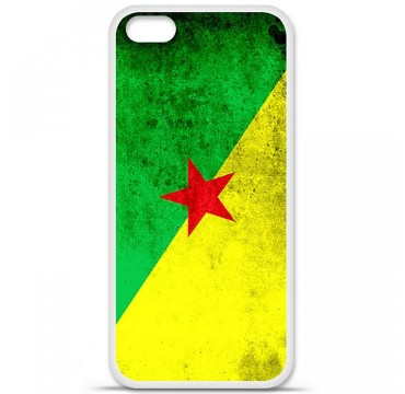 Coque en silicone Apple iPhone 5C - Drapeau Guyane