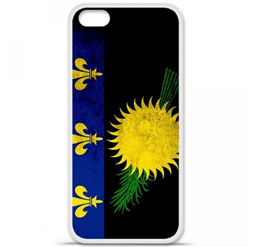 Coque en silicone Apple iPhone 5C - Drapeau Guadeloupe
