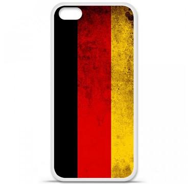 Coque en silicone Apple iPhone 5C - Drapeau Allemagne