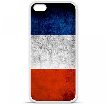 Coque en silicone Apple iPhone 5C - Drapeau France