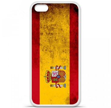 Coque en silicone Apple iPhone 5C - Drapeau Espagne