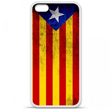 Coque en silicone Apple iPhone 5C - Drapeau Catalogne
