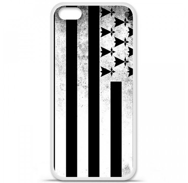 Coque en silicone Apple iPhone 5C - Drapeau Bretagne