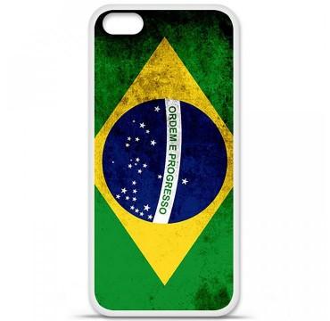 Coque en silicone Apple iPhone 5C - Drapeau Brésil