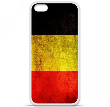 Coque en silicone Apple iPhone 5C - Drapeau Belgique