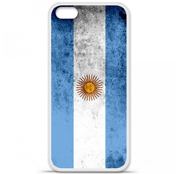 Coque en silicone Apple iPhone 5C - Drapeau Argentine