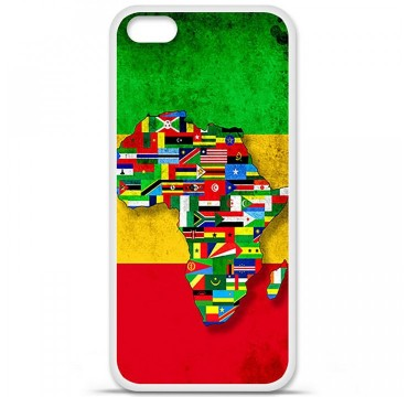 Coque en silicone Apple iPhone 5C - Drapeau Africa Unite