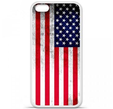 Coque en silicone Apple iPhone 5C - Drapeau USA