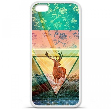 Coque en silicone Apple iPhone 5C - Cerf swag