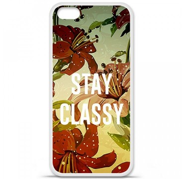Coque en silicone Apple iPhone 5C - Stay classy
