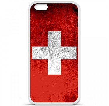 Coque en silicone Apple iPhone 6 / 6S - Drapeau Suisse