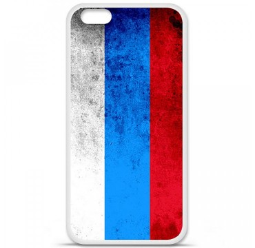 Coque en silicone Apple iPhone 6 / 6S - Drapeau Russie