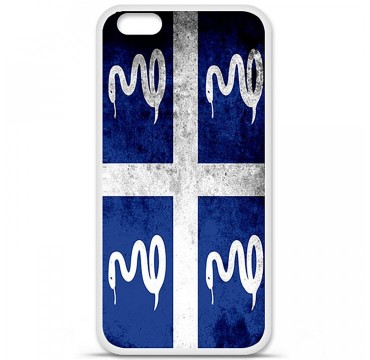 Coque en silicone Apple iPhone 6 / 6S - Drapeau Martinique