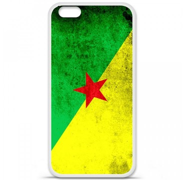 Coque en silicone Apple iPhone 6 / 6S - Drapeau Guyane