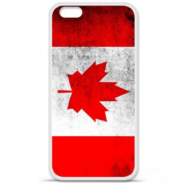 Coque en silicone Apple iPhone 6 / 6S - Drapeau Canada