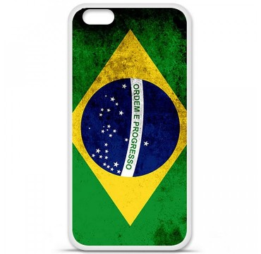 Coque en silicone Apple iPhone 6 / 6S - Drapeau Brésil