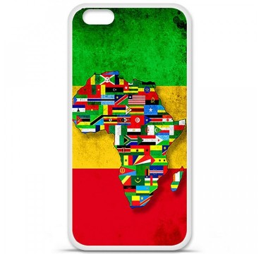Coque en silicone Apple iPhone 6 / 6S - Drapeau Africa Unite