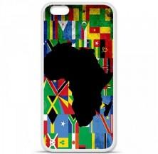 Coque en silicone Apple iPhone 6 / 6S - Drapeau Afrique