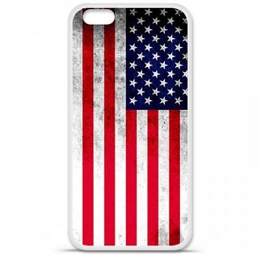 Coque en silicone pour Apple iPhone 6 / 6S - Drapeau USA