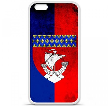 Coque en silicone Apple iPhone 6 / 6S - Drapeau Paris