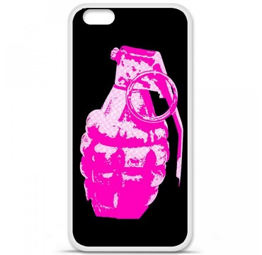 Coque en silicone Apple iPhone 6 / 6S - Grenade rose