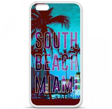 Coque en silicone Apple iPhone 6 Plus / 6S Plus - South beach miami