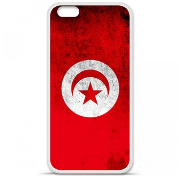 Coque en silicone Apple iPhone 6 Plus / 6S Plus - Drapeau Tunisie