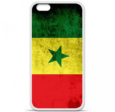 Coque en silicone Apple iPhone 6 Plus / 6S Plus - Drapeau Sénégal