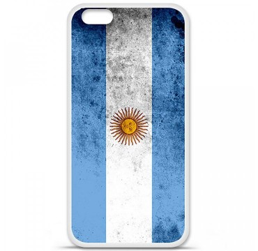 Coque en silicone Apple iPhone 6 Plus / 6S Plus - Drapeau Argentine