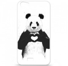Coque en silicone Wiko Lenny 2 - BS Love Panda