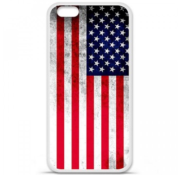 Coque en silicone Apple iPhone 6 Plus / 6S Plus - Drapeau USA
