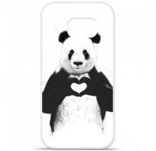 Coque en silicone Samsung Galaxy S6 Edge - BS Love Panda