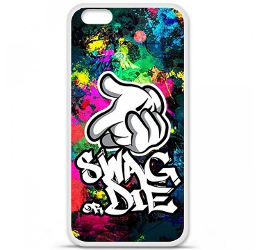 Coque en silicone Apple iPhone 6 Plus / 6S Plus - Swag or die