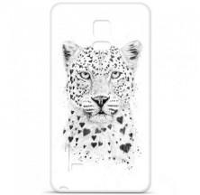 Coque en silicone Samsung Galaxy Note 4 - BS Love leopard