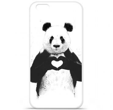 Coque silicone iPhone 6 Plus / 6S Plus - Balasz Solti (Love Panda)