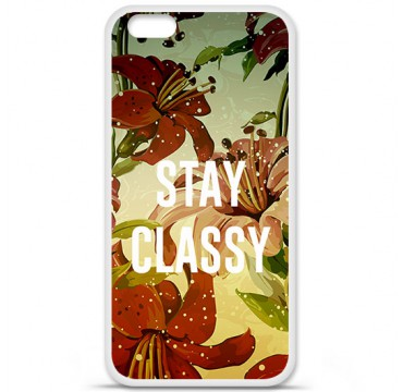 Coque silicone iPhone 6 plus / 6s plus Fleur stay classy