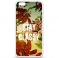 Coque silicone iPhone 6 plus / 6s plus Fleur stay classy